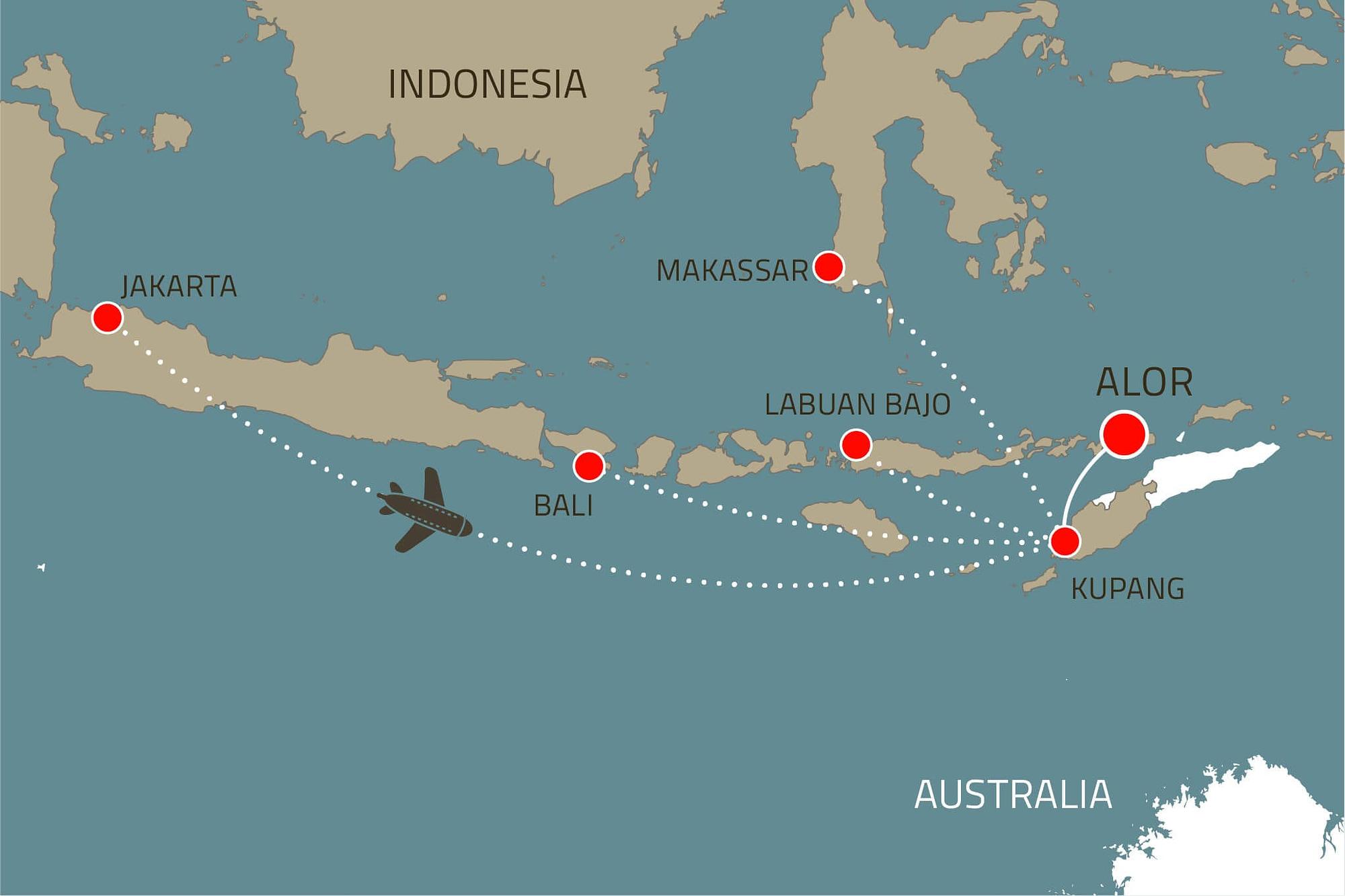 Alami Alor Travel Map 2021